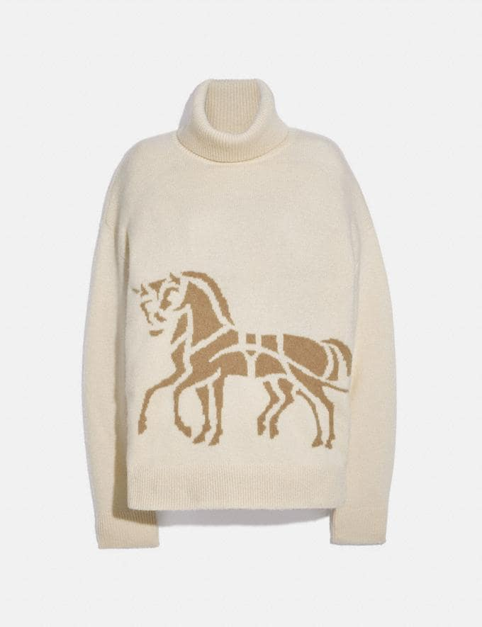 Coach Horse and Carriage Sweater Cream
