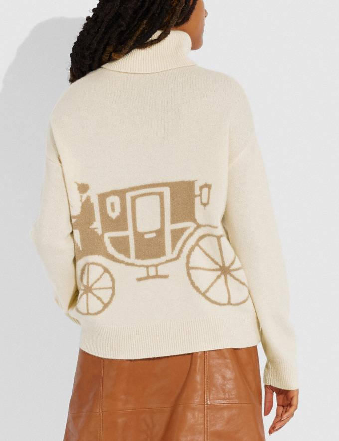Coach Horse and Carriage Sweater Cream  Alternate View 2