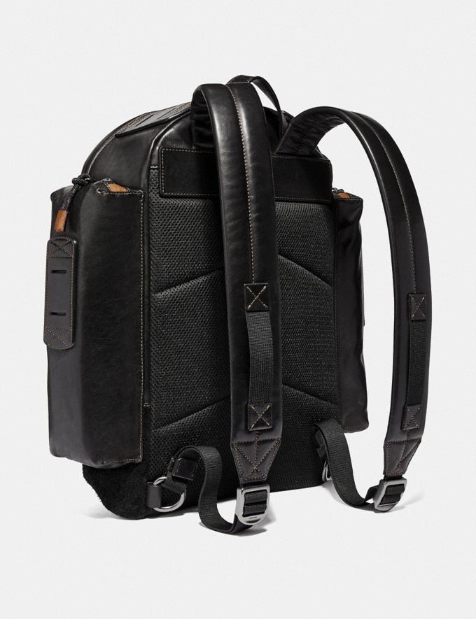 Coach Ridge Backpack With Coach Patch Black/Black Copper Men Bags Backpacks Alternate View 1