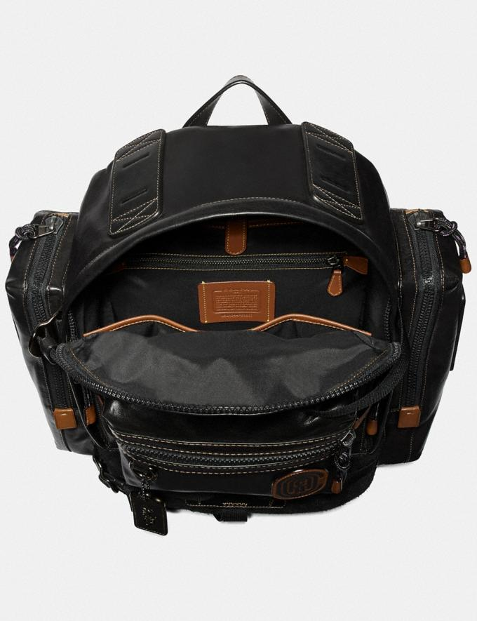 Coach Ridge Backpack With Coach Patch Black/Black Copper Men Bags Backpacks Alternate View 2