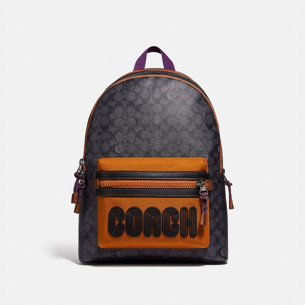academy backpack in signature canvas with coach print