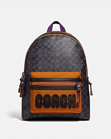 8c47151a9c50 ACADEMY BACKPACK IN SIGNATURE CANVAS WITH COACH PRINT ...
