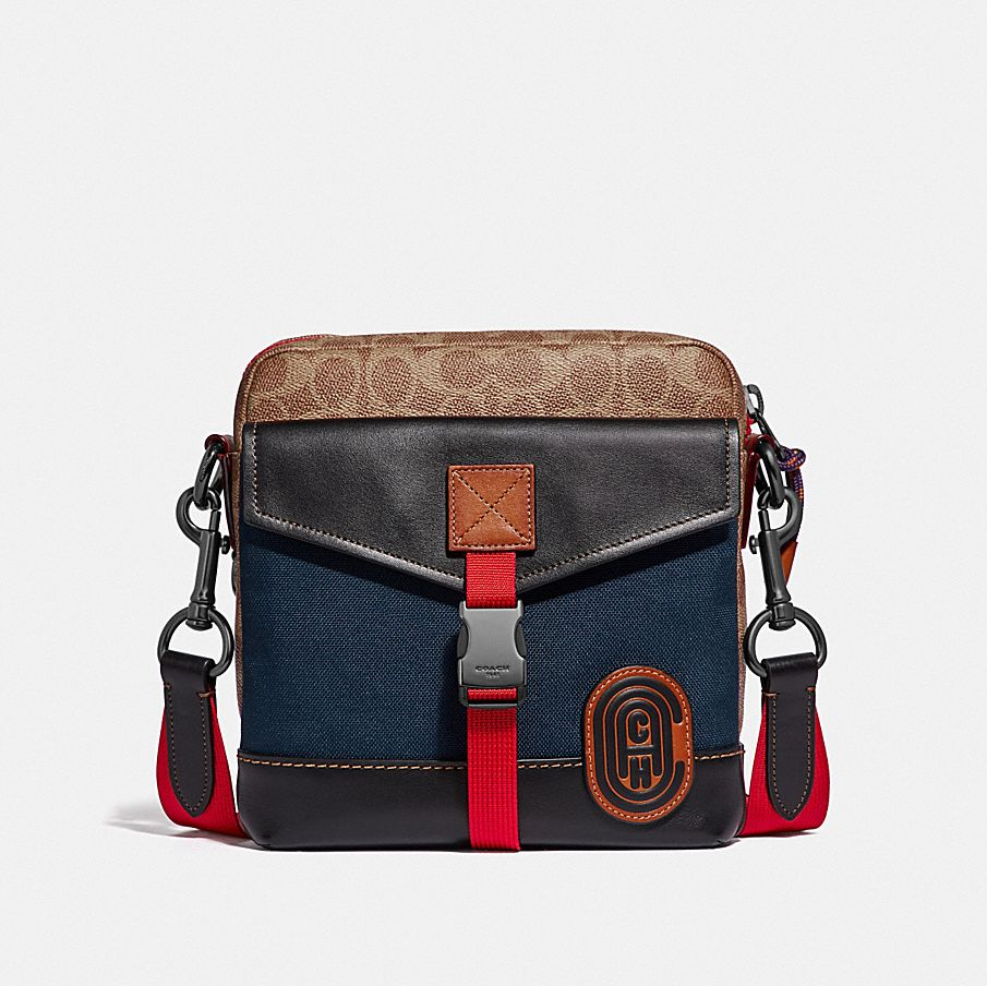 720bc984a0a13 ... coupon code for crossbody in signature canvas with coach patch c409e  2a907