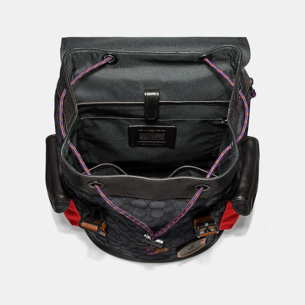 Coach Rivington Backpack in Signature Canvas With Coach Patch Alternate View 2