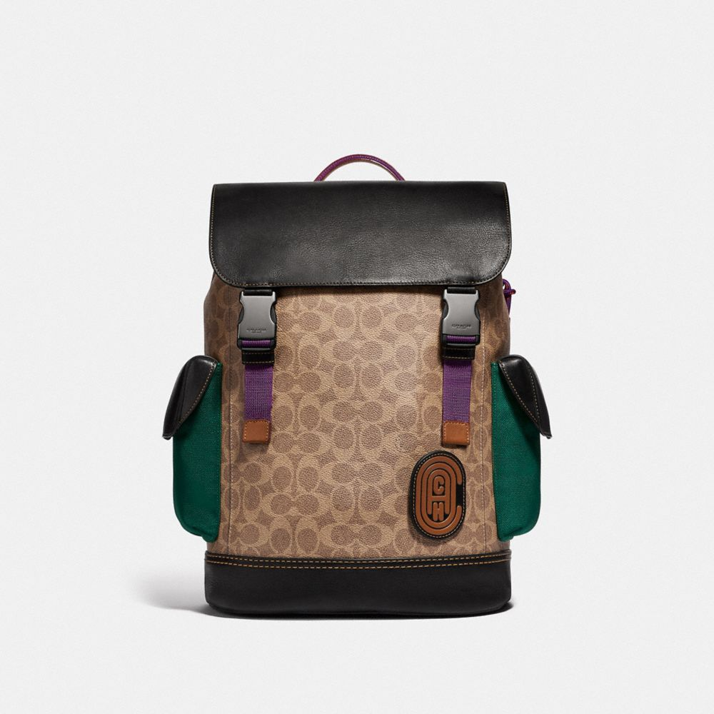 Coach Rivington Backpack in Signature Canvas With Coach Patch
