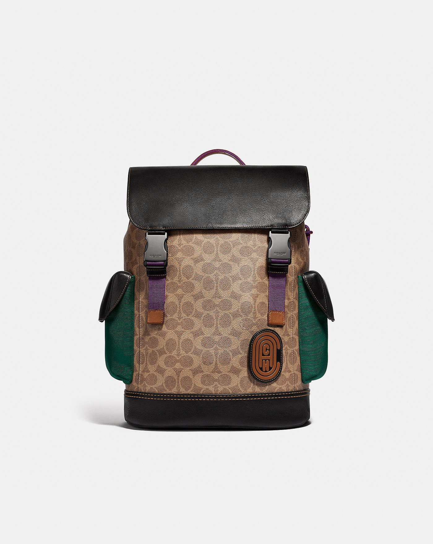 e15f2cf6a276 Rivington Backpack in Signature Canvas With Coach Patch