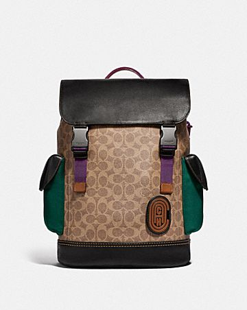 803af0a01d7ef RIVINGTON BACKPACK IN SIGNATURE CANVAS WITH COACH PATCH ...