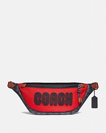 RIVINGTON BELT BAG IN SIGNATURE CANVAS WITH COACH PRINT