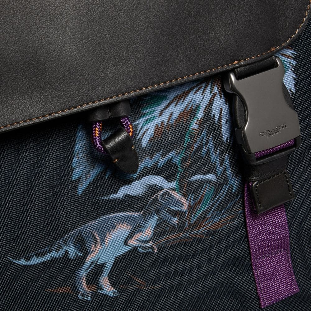 Coach Rivington Backpack With Palm Tree Print Alternate View 3
