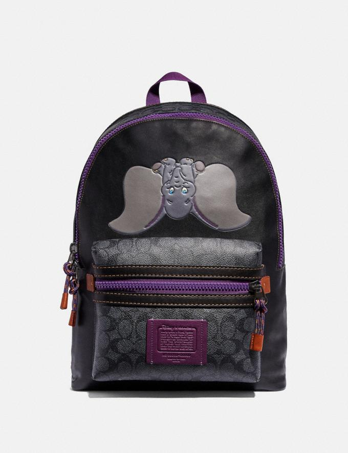 Coach Disney X Coach Signature Academy Backpack With Dumbo Charcoal/Black/Black Copper Men Bags Backpacks