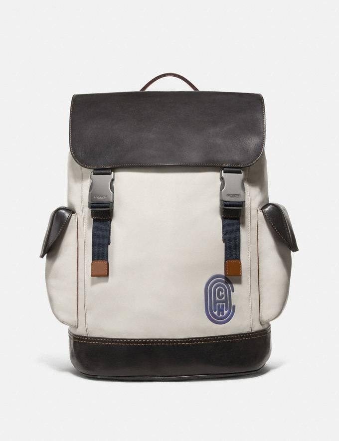 Coach Rivington Backpack Chalk/Black/Black Copper Men Bags Backpacks