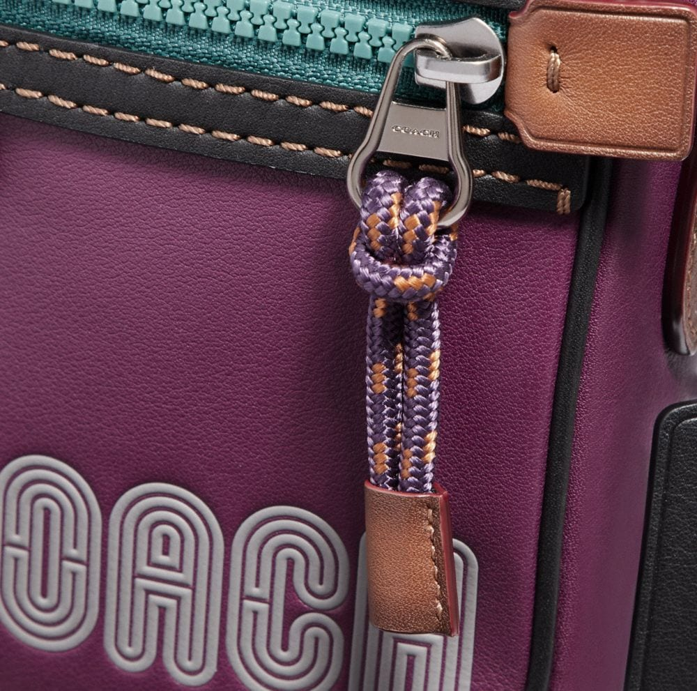 Coach Dylan 10 in Smooth Leather With Coach Print Alternate View 3