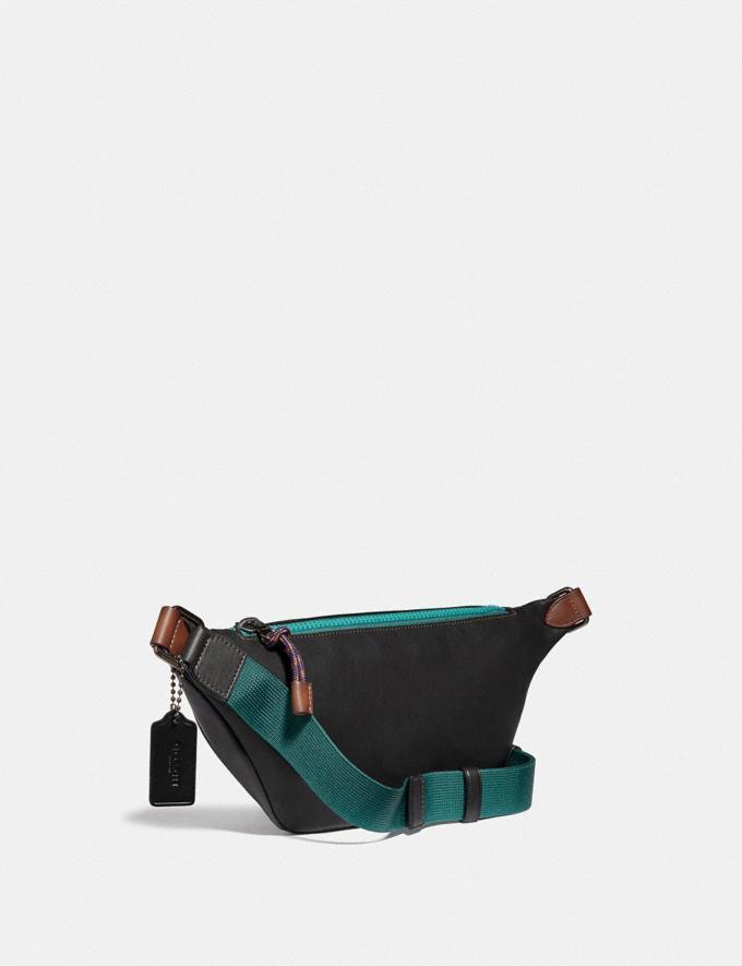 Coach Rivington Belt Bag With Coach Print Plum/Black/Black Copper New Featured Retro Graphic Alternate View 1