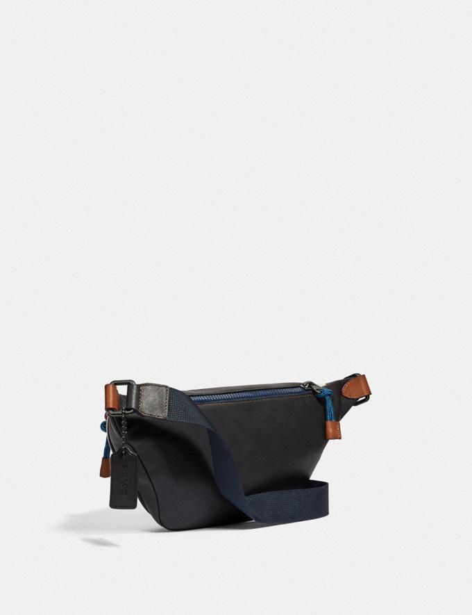 Coach Rivington Belt Bag With Coach Print Black Copper/Chalk/Black Women Handbags Belt Bags Alternate View 1