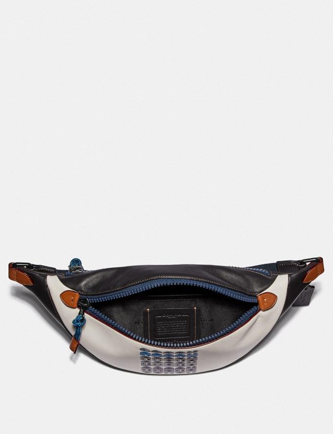 Coach Rivington Belt Bag With Coach Print Black Copper/Chalk/Black Women Handbags Belt Bags Alternate View 2