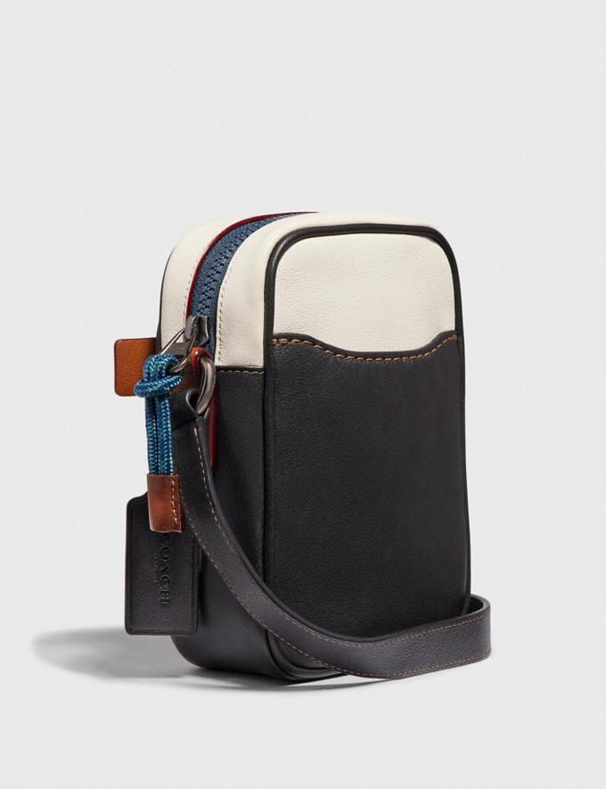 Coach Dylan 10 With Coach Patch Chalk/Black/Black Copper Men Bags Messenger & Crossbody Alternate View 1