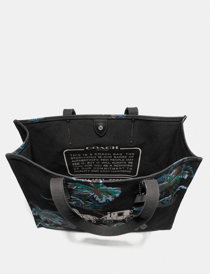 Coach Tote 42 With Horse and Carriage Black Navy Dino Palm Print/Black Copper Men Bags Totes & Duffles Alternate View 2
