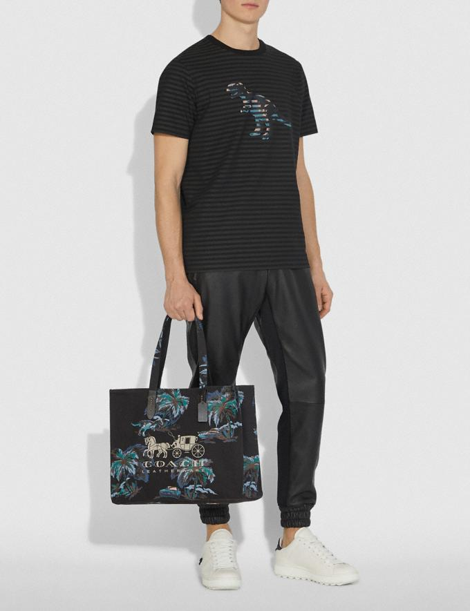 Coach Tote 42 With Horse and Carriage Black Navy Dino Palm Print/Black Copper Men Bags Totes & Duffles Alternate View 3