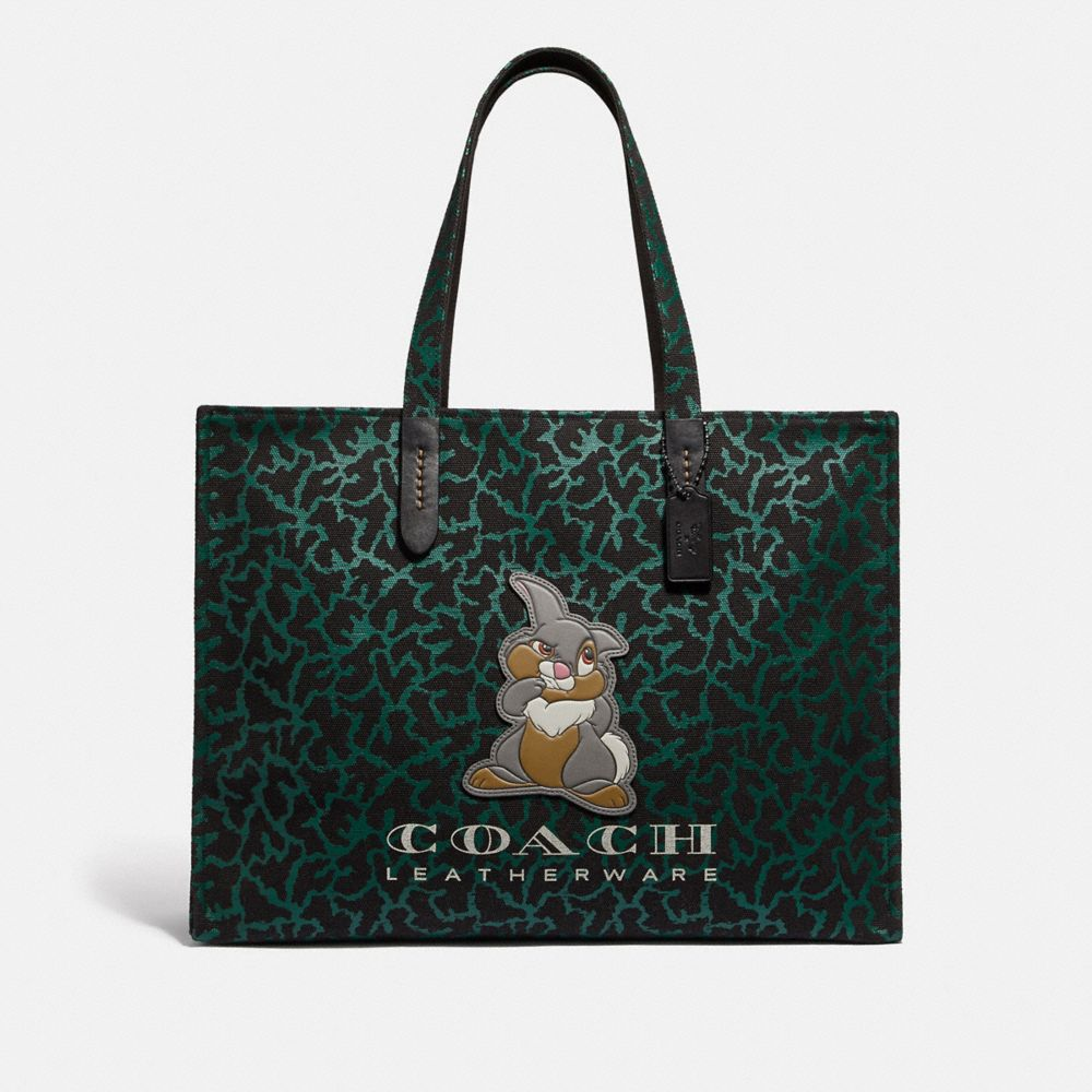 Coach Disney X Coach Thumper Tote 42 With Graphic Animal Print