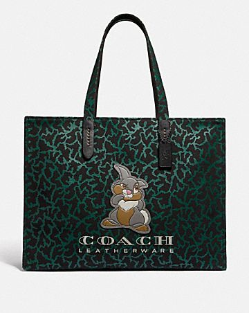a5bb52a984 disney x coach thumper tote 42 with graphic.