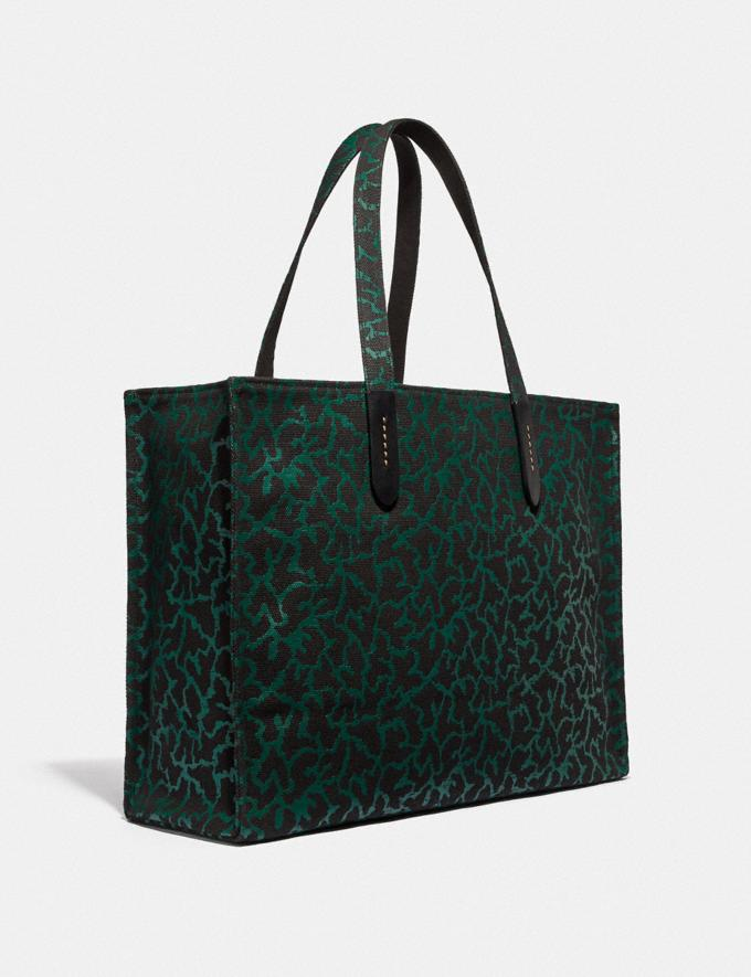 Coach Disney X Coach Thumper Tote 42 With Graphic Animal Print Green Multi/Black Copper Men Bags Totes & Duffles Alternate View 1