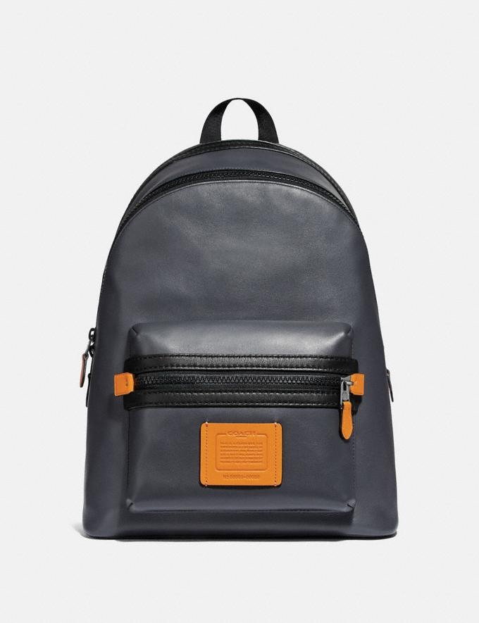 Coach Academy Backpack in Colorblock Midnight Navy/Black Copper Men Bags Backpacks
