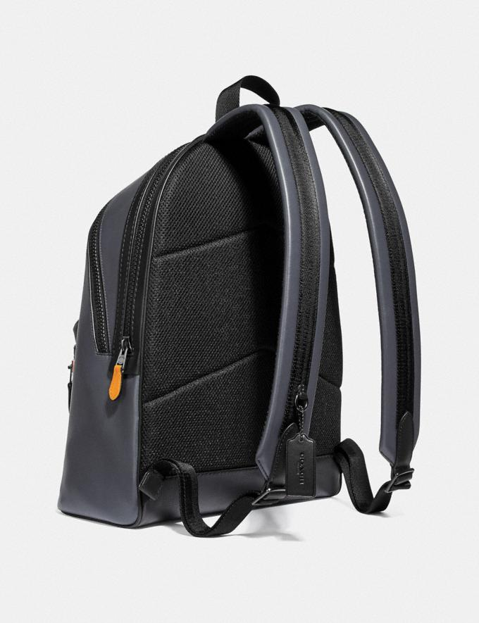 Coach Academy Backpack in Colorblock Midnight Navy/Black Copper Men Bags Backpacks Alternate View 1