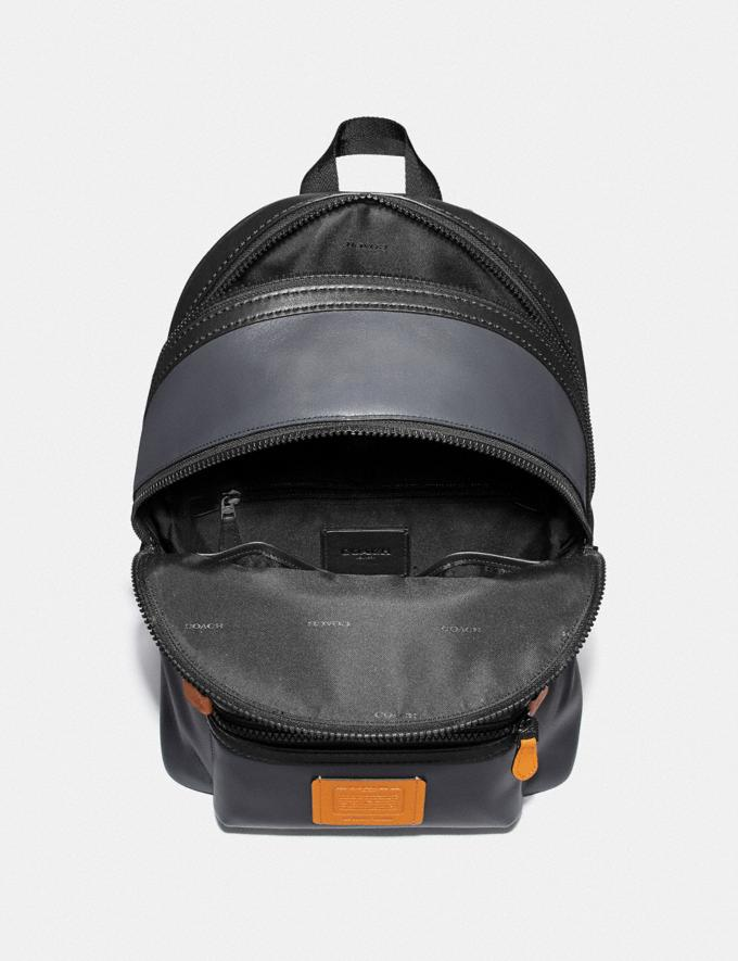 Coach Academy Backpack in Colorblock Midnight Navy/Black Copper Men Bags Backpacks Alternate View 2