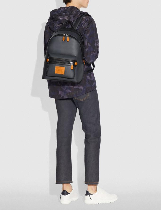 Coach Academy Backpack in Colorblock Midnight Navy/Black Copper Men Bags Backpacks Alternate View 3