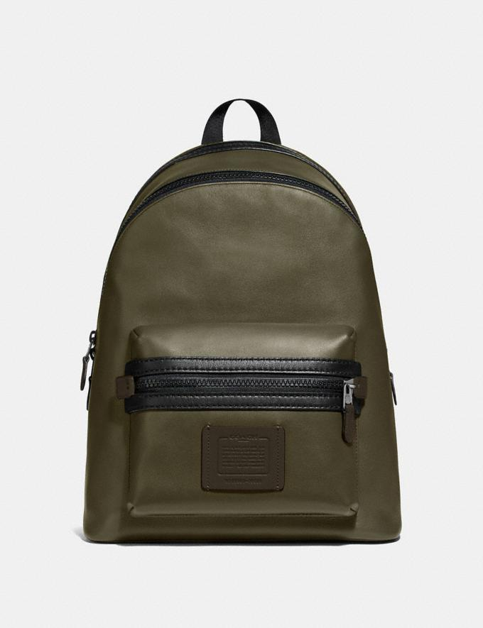 Coach Academy Backpack in Colorblock Light Olive/Black Copper Men Bags Backpacks