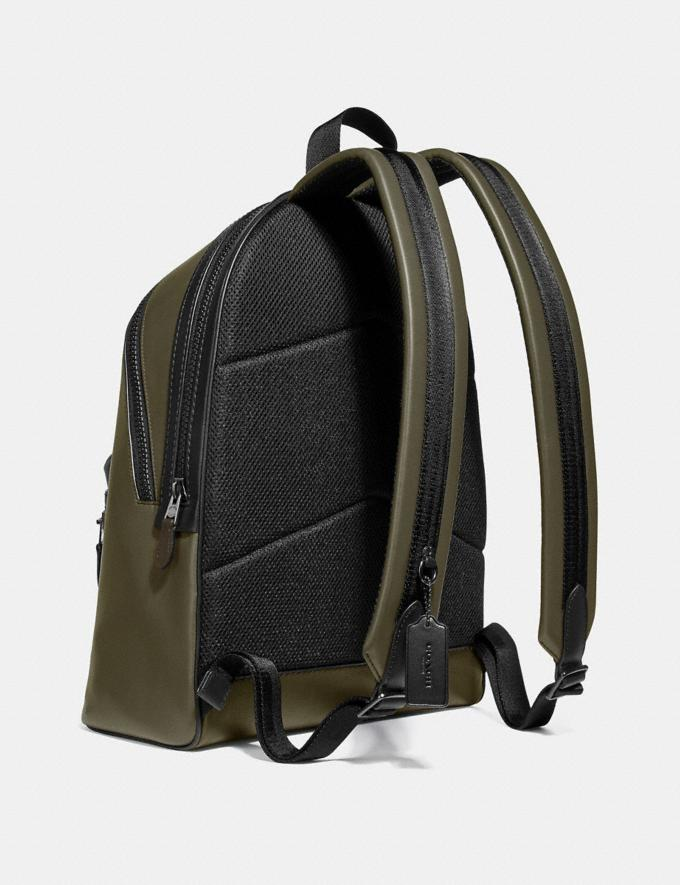 Coach Academy Backpack in Colorblock Light Olive/Black Copper Men Bags Backpacks Alternate View 1