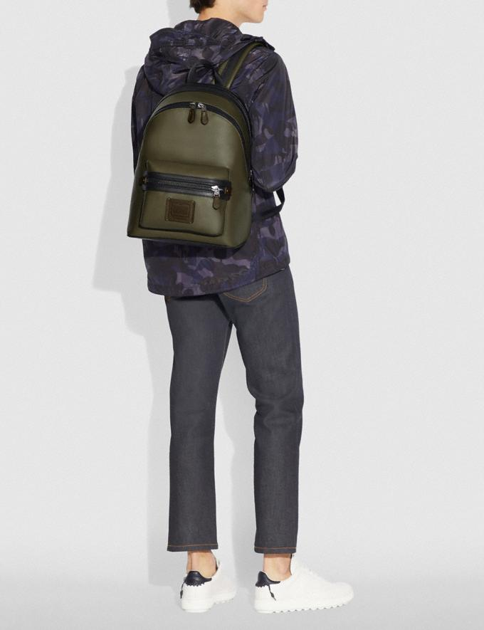 Coach Academy Backpack in Colorblock Light Olive/Black Copper Men Bags Backpacks Alternate View 3