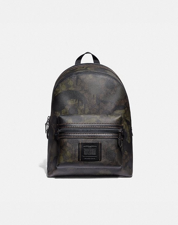 Coach ACADEMY BACKPACK IN SIGNATURE CANVAS WITH WILD BEAST PRINT