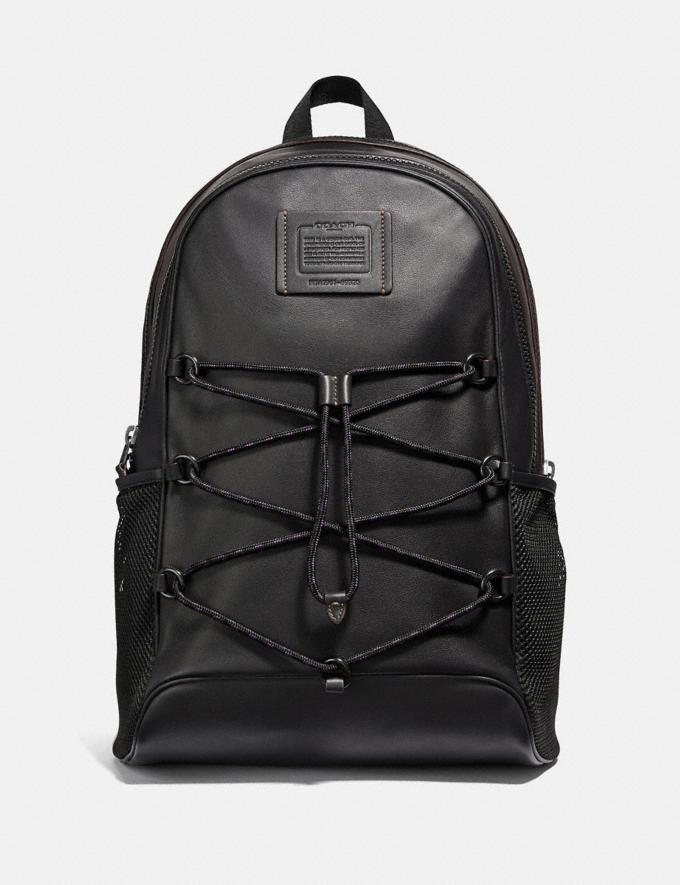 Coach Academy Sport Backpack Black/Black Copper Men Bags Backpacks