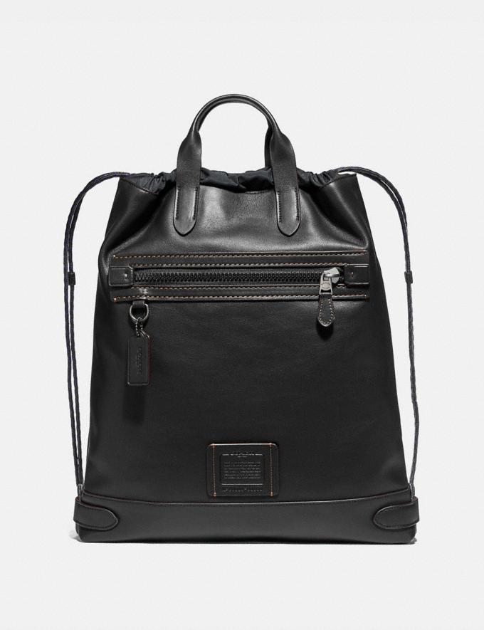 Coach Academy Drawstring Backpack Black/Black Copper 30% off Select Full-Price Styles