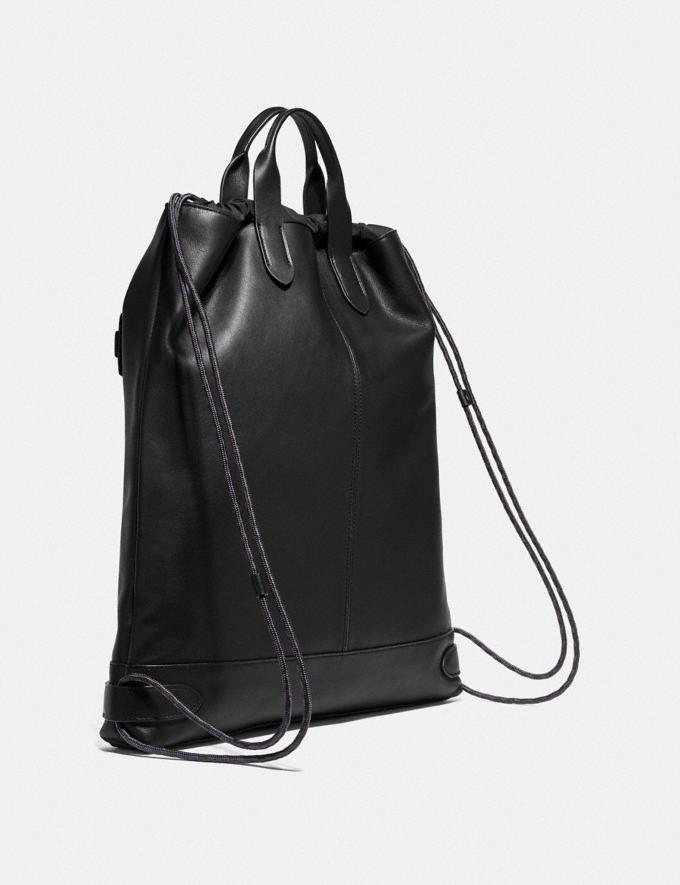 Coach Academy Drawstring Backpack Black/Black Copper 30% off Select Full-Price Styles Alternate View 1