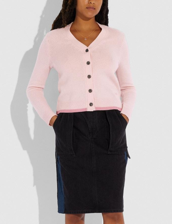 Coach Horse and Carriage Essentials Cardigan Pink  Alternate View 1