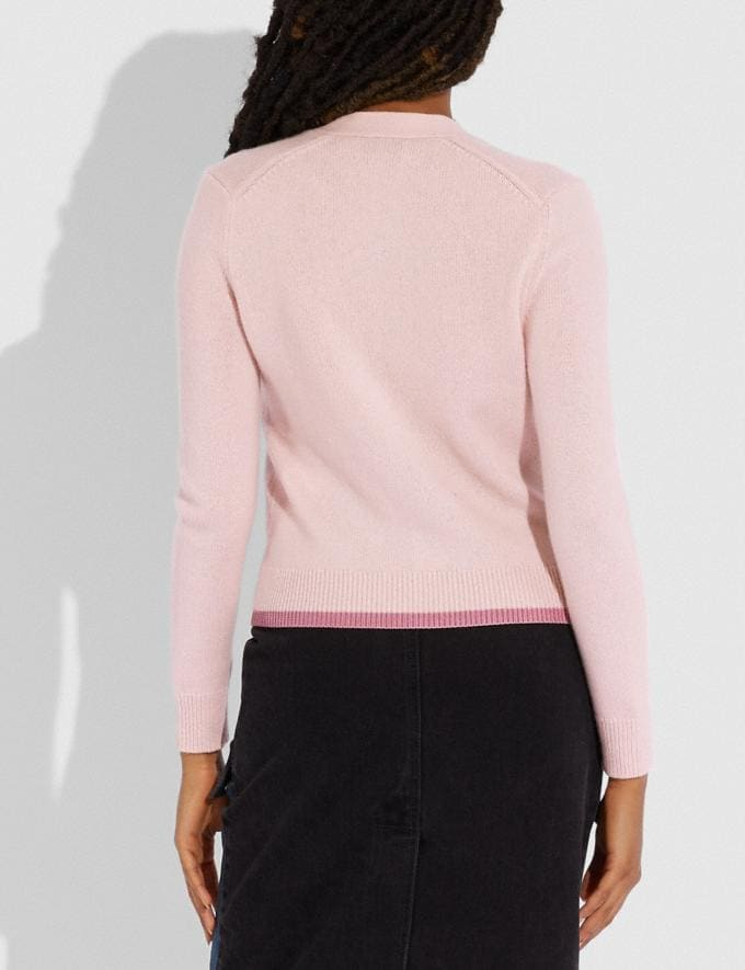 Coach Horse and Carriage Essentials Cardigan Pink  Alternate View 2