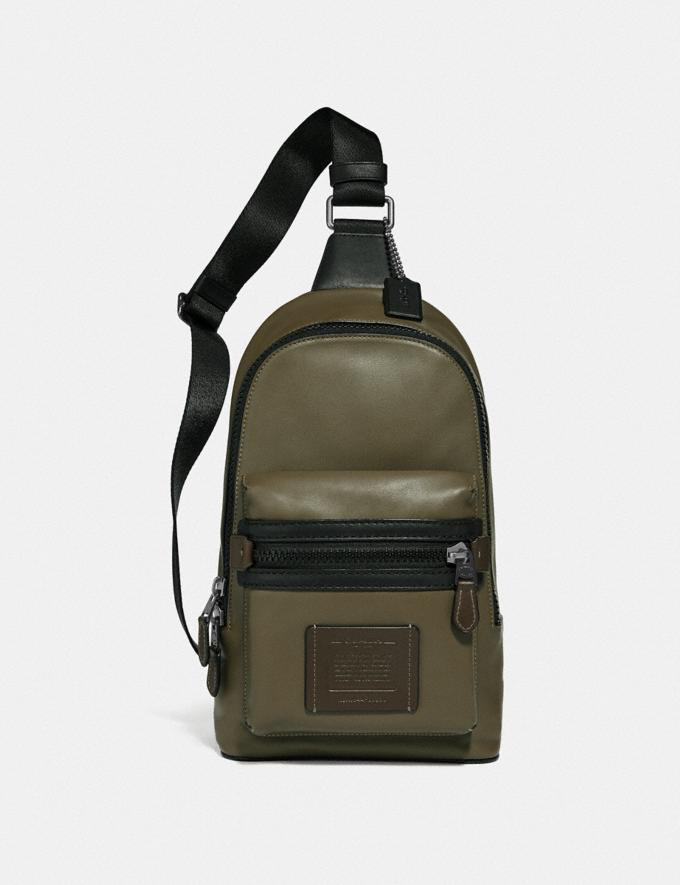 Coach Academy Pack in Colorblock Light Olive/Black Copper Men Bags View All