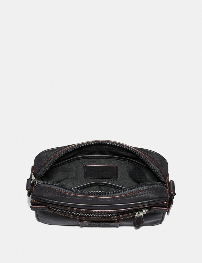 Coach Academy Crossbody Black/Black Copper Cyber Monday Men's Cyber Monday Sale Bags Alternate View 2
