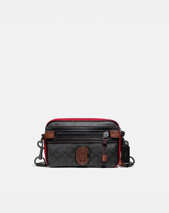 Coach ACADEMY CROSSBODY IN SIGNATURE CANVAS WITH COACH PATCH
