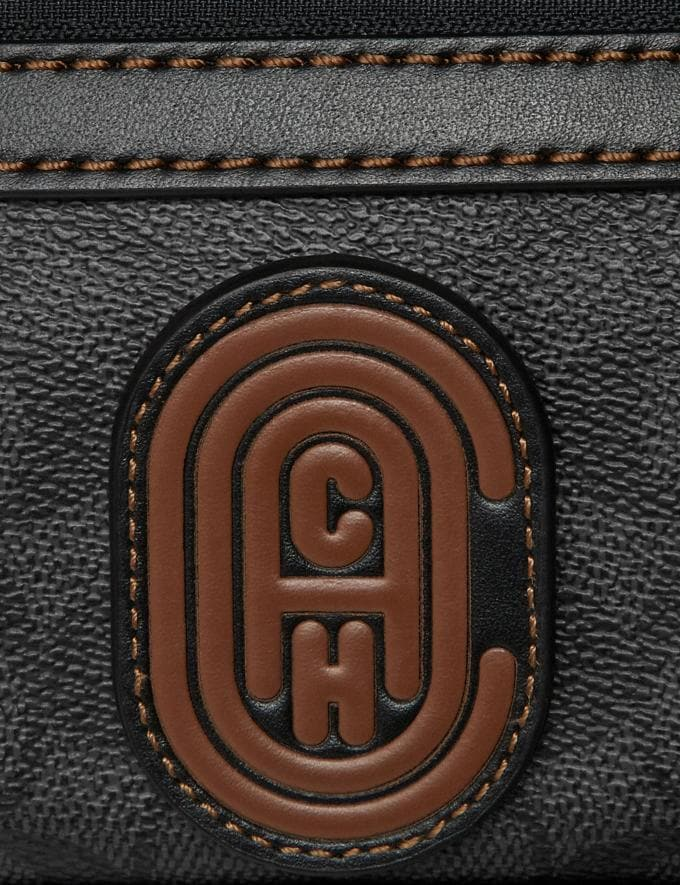Coach Academy Crossbody in Signature Canvas With Coach Patch Charcoal/Black Copper Men Bags View All Alternate View 4