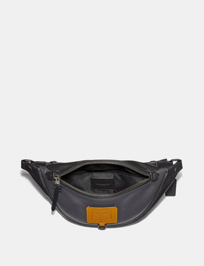 Coach Rivington Belt Bag in Colorblock Midnight Navy/Black Copper Men Bags Belt Bags Alternate View 2