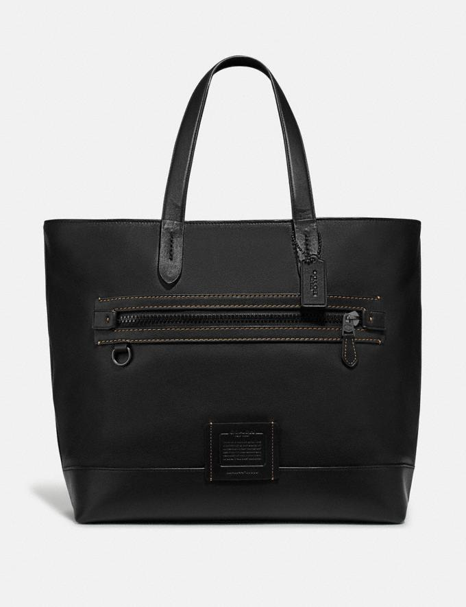 Coach Academy Tote Black/Black Copper Women Bags Totes