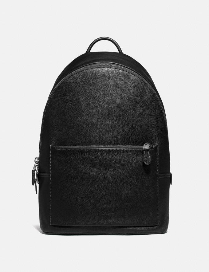 Coach Metropolitan Soft Backpack Black/Black Antique Nickel Men