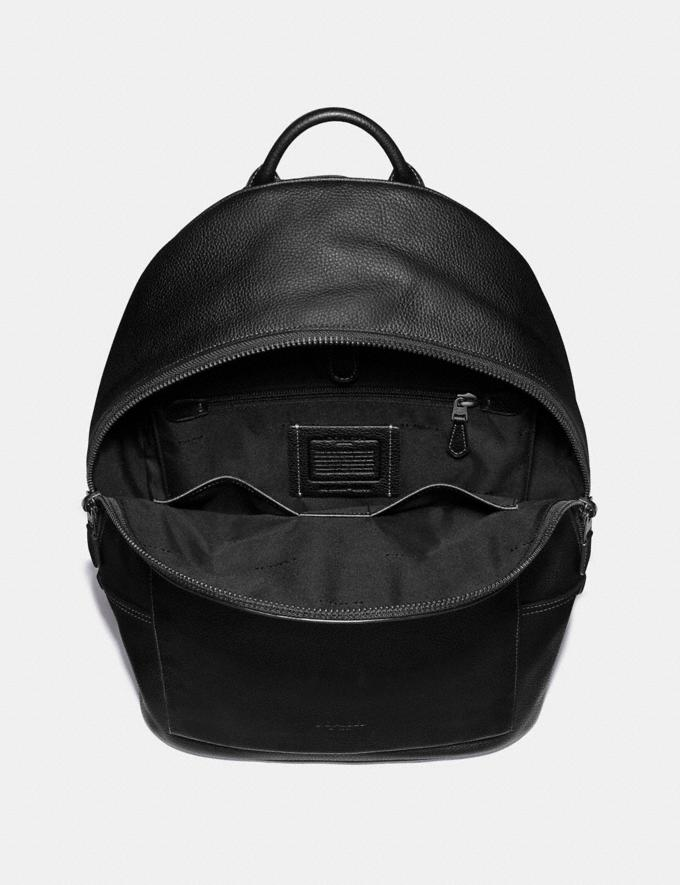 Coach Metropolitan Soft Backpack Black/Black Antique Nickel Men Edits Work Alternate View 2