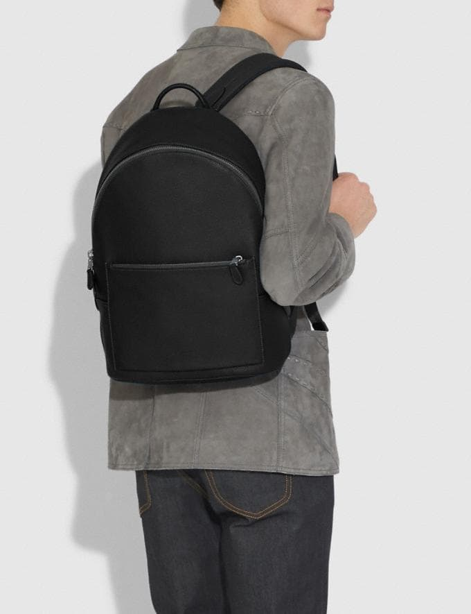 Coach Metropolitan Soft Backpack Black/Black Antique Nickel Men Edits Work Alternate View 3