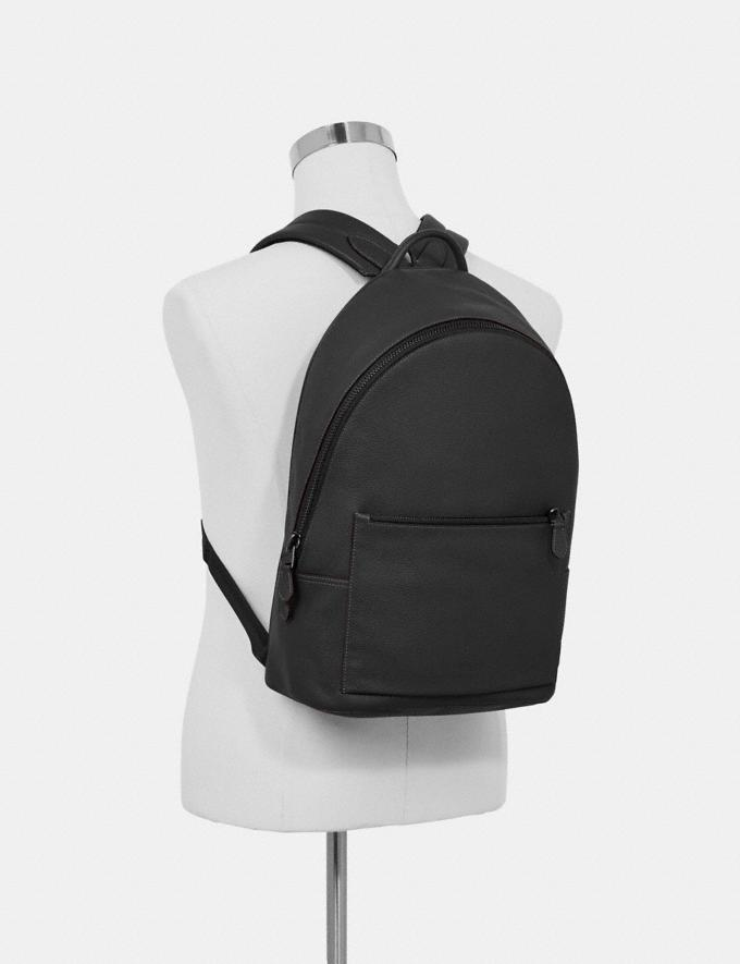 Coach Metropolitan Soft Backpack Black/Black Antique Nickel Women Bags Backpacks Alternate View 3