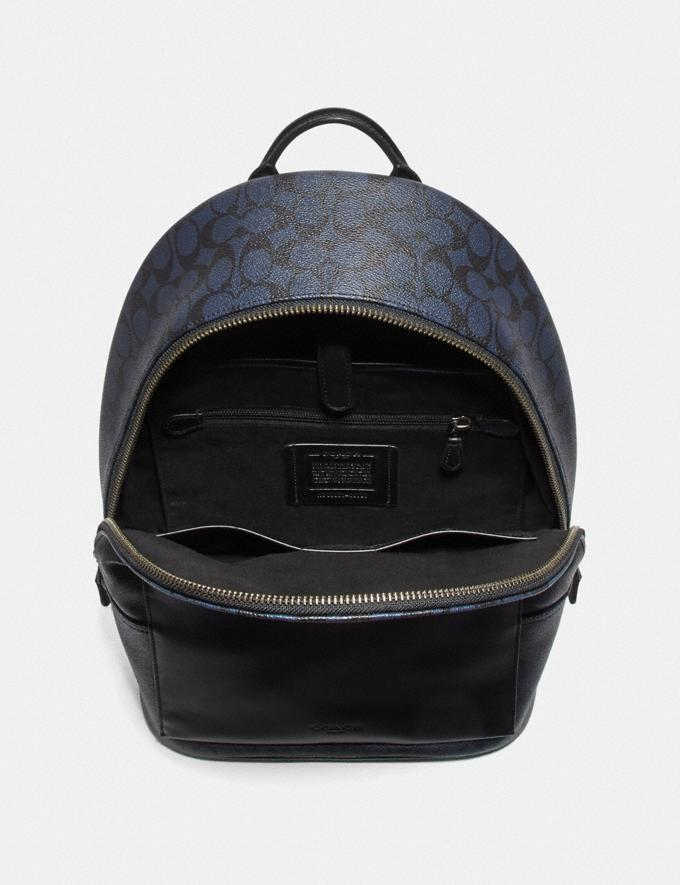 Coach Metropolitan Soft Backpack in Signature Canvas Midnight Navy/Black Antique Nickel Men Bags Backpacks Alternate View 2