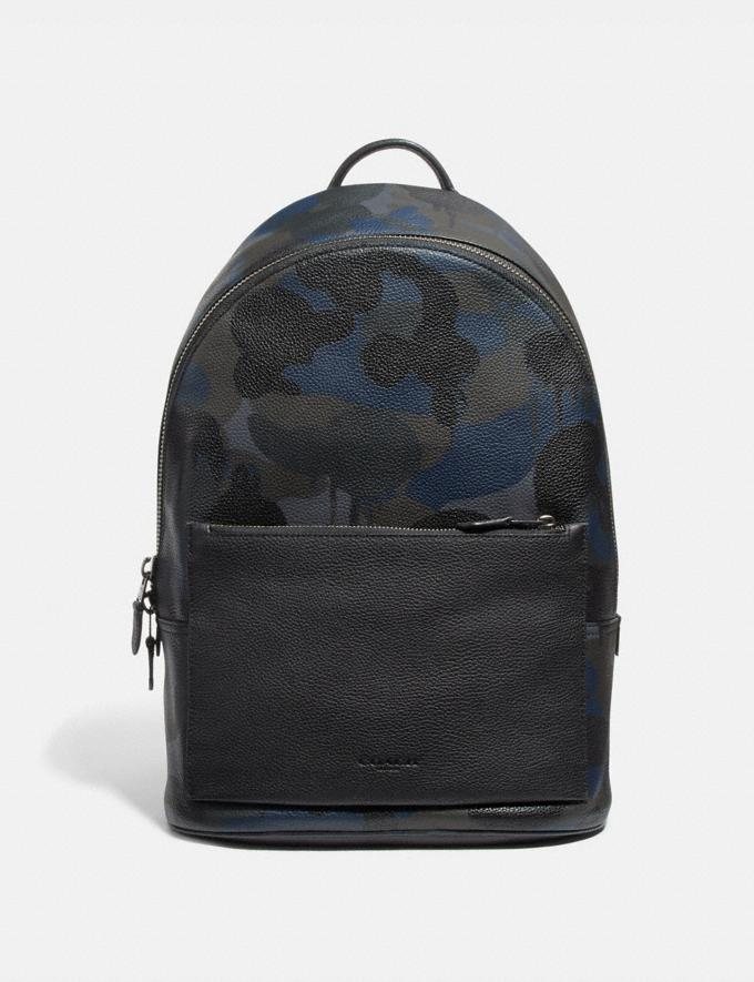Coach Metropolitan Soft Backpack With Wild Beast Print Blue Wild Beast/Black Copper Men Bags Backpacks